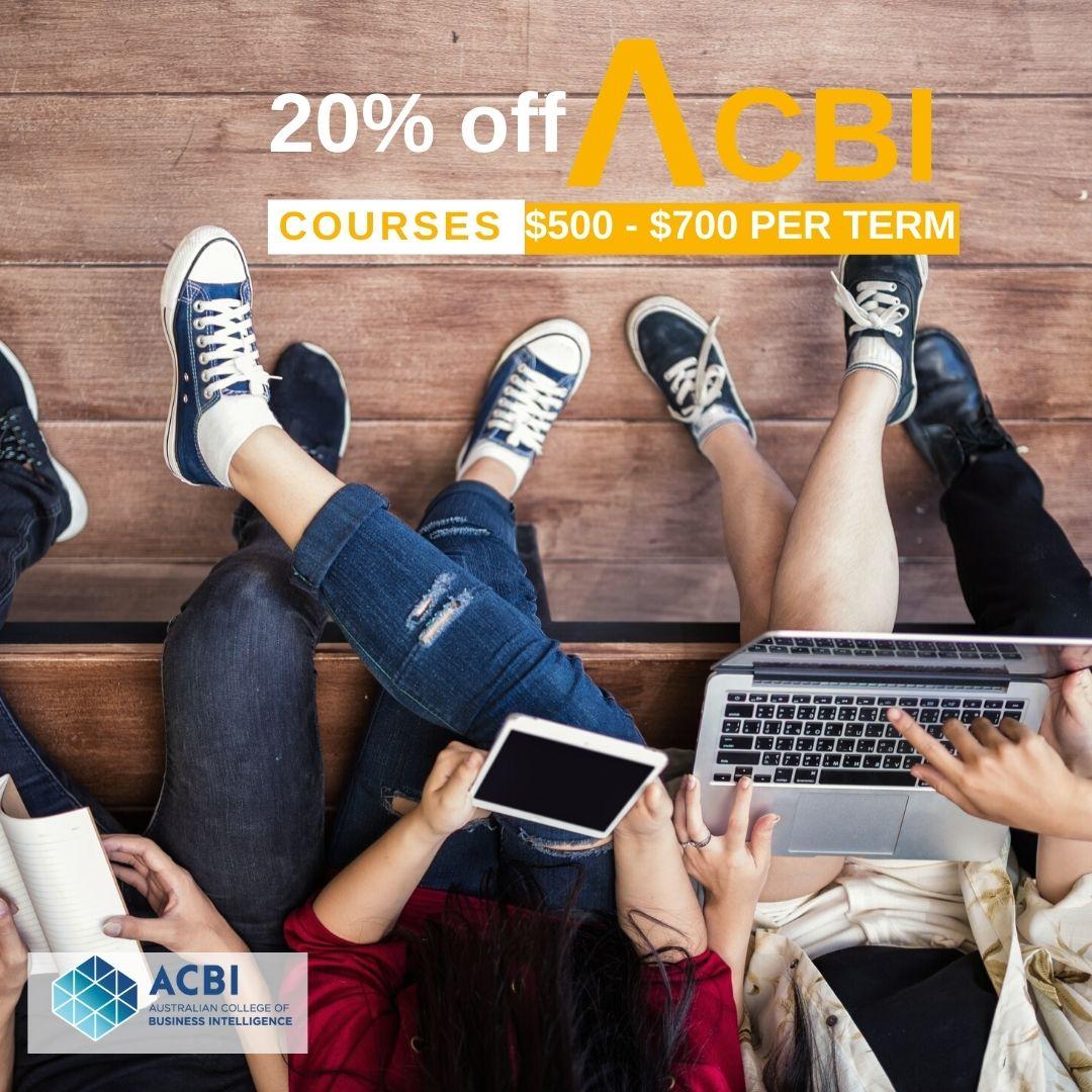 20% off Australian College of Business Intelligence